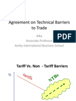 Technical barriers to trade
