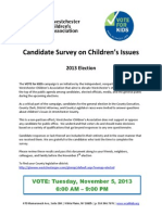 Vote for Kids 2013 Candidate Survey