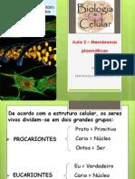 Aula 2 - Membranas plasmáticas