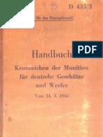 D 435-3 - Handbuch - Kennnzeichen der Munition für deutsche Werfer und Geschütze (24.03.1943)