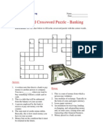 Advanced Crossword Puzzle - Banking