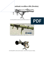 Carl Gustaf Antitank Recoilless Rifle