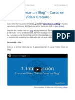 Como Crear un Blog – Curso en Vídeo Gratuito