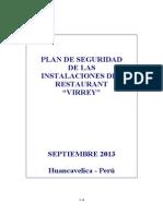 RESTAURANT VIRREY - Plan de Contingencia