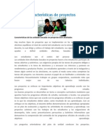 caractersticas de proyectos