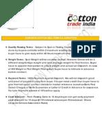 Domestic Cotton Terms & Condition