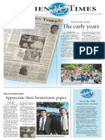Darien Times 20th Anniversary section