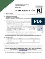 Prueba Seleccion Basico 2010 i r