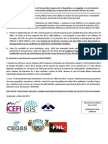 Pronunciamiento IPNUSAC, área de Salud y Seguridad Social