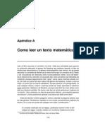 Como Leer Textos Matematicos
