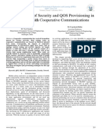 A Joint Design of Security and QOS Provisioning in MANET's with Cooperative Communications