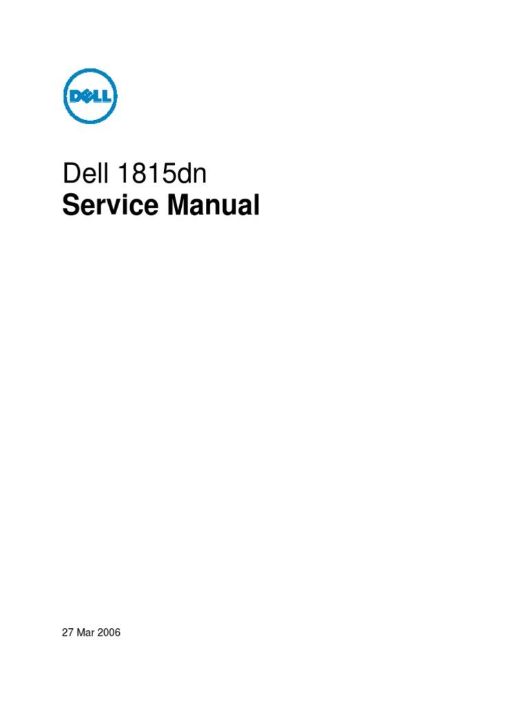 dell 1815dn service manual electrostatic discharge ac power rh es scribd com Dell 1815Dn Specs Dell 1815Dn Manual PDF