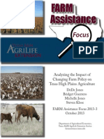Analyzing the Impact of a Loss of Direct Payments on Texas High Plains Agriculture