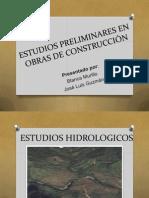 ESTUDIOS PRELIMINARES EN OBRAS DE CONSTRUCCIÓN