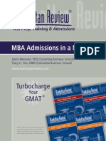 MBA Admissions in a Nutshell