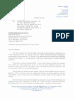 Cranford Letter to NJDEP 10-22-13