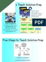 Solution Preparation Steps