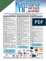 Prográmese con la semana TIC de la localidad de Antonio Nariño-Programacion