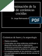 Determinacion de La Edad de Ceramicas Cocidas