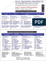 Full Time Course Information 2014