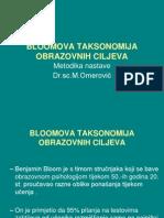 Blumova taksonomija -Metodika
