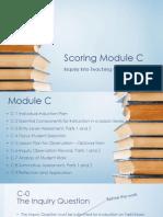 btsa scoring module c power point