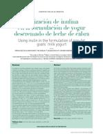 Utlizacion de Inulina Para La Elaboracion de Yogur Con Leche de Cabra - Ipm. Diag Flujo