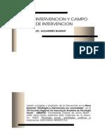 Intervencion y Campo de Intervencion - Alejandro Raggio