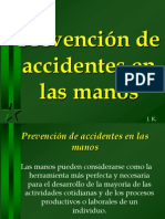 Prevención accidentes Manos