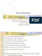 What is Peace Education-Presentation to the New England Philosophy of Education Society October 06