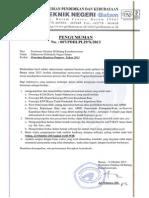 Revisi Pengumuman Beasiswa Pemprov 2013