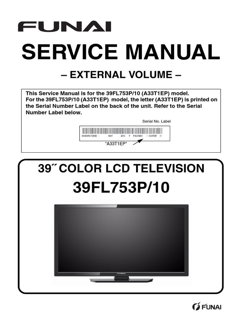 FUNAI Manual de Servicio 39FL753P_10(A33T1EP)_