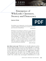 Spencer ZifcakThe Emergence of WikiLeaks