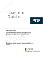 Governance Guidelines
