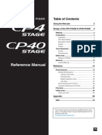 Yamaha CP4-CP40 - Reference Manual