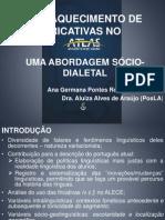 2012-Semana Universitária-UECE - ENFRAQUECIMENTO DE FRICATIVAS NO ALECE