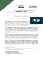 Nota de Prensa N° 03 - 2013