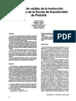 Escala de Impulsividad de Plutchik