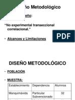 Diseño Metodológico para exponer tesis