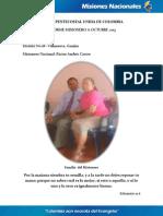 Informe Misionero a Octubre 2013 - Villanueva, Guajira - Distrito 18