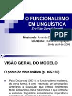 O Funcionalismo Em Linguistica - 30 Abril 2009