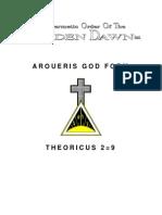 Golden Dawn 2=9 Aroueris God Form