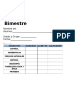 4to Grado - Bimestre 1.doc