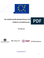 ALPHA-Fitness Test Manual for Children & Adolescents