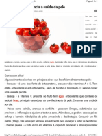Alimentação influencia a saúde da pele
