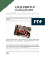 El Estudio de Las Clases en El Sistema Educativo Japones