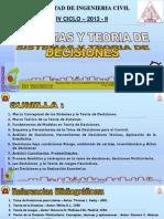 Clase 1 Sistemas y Teoria Decisiones 2013 II