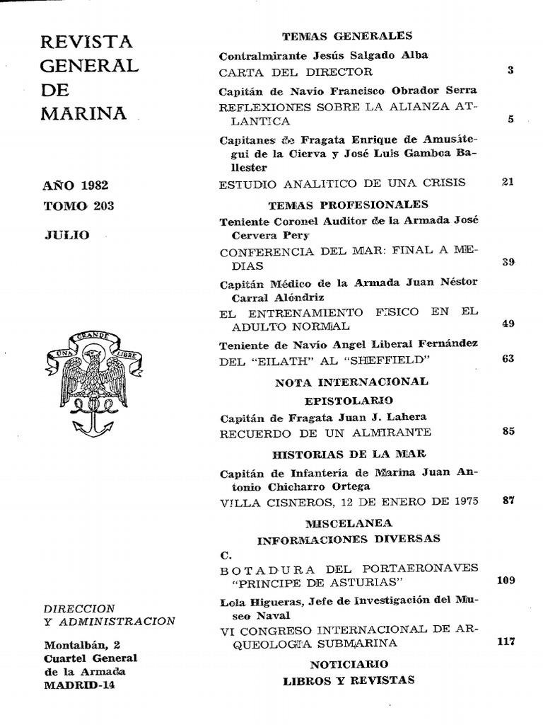 Revista General de Marina Tomo 203 1982