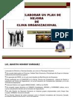 Material Curso Clima Organizacional Como Elaborar Un Plan de Mejora