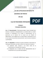 Proyecto Ley Voluntades Anticipadas